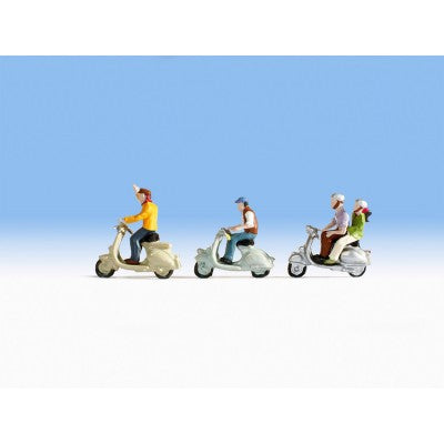 Noch 36910 N Scale Scooters with Riders