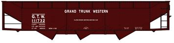 Accurail 75151 HO Grand Trunk Western AAR 70-Ton Offset-Side 3-Bay Hopper