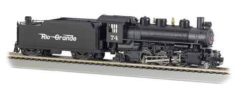 Bachmann 51526 HO Rio Grande Prairie 2-6-2 Steam Locomotive w/Smoke & Tender #74