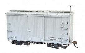 Bachmann 26553 On30 Spectrum 18' Freight Boxcar w/Murphy Roof Gray Data Only