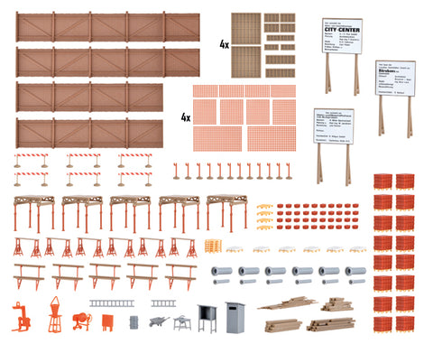 Kibri 38538 HO Scale Construction Site Accessories