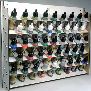 Vallejo Paint 26010 Wall Mounted Module Paint Display (Holds 43 Bottles)