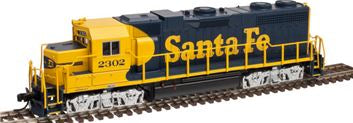 Atlas 40002760 N Santa Fe EMD GP38 Low Nose Diesel Engine with Dynamic Brakes & DCC #2302
