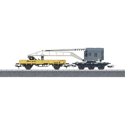 Marklin 44452 HO Krupp-Ardelt Crane 3-Rail Container Loading Car Set