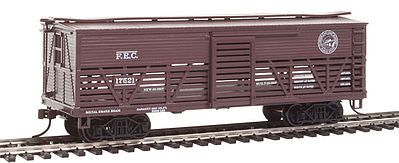 Con-Cor 1052041 HO Florida East Coast Wood Stock Car (Old-Time Cattle) #1