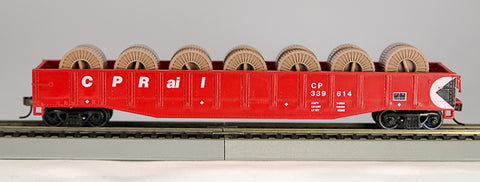 Con-Cor 92116 HO CP Rail 54ft Gondola with Fiber Optic Cable Reels #2