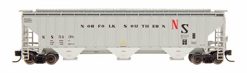 InterMountain 65338 N Norfolk Southern 4750 Cu Ft Rib-Sided 3-Bay Hopper