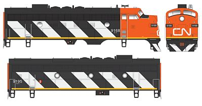 Bowser 24040 HO Canadian National F7A/B Diesel Locomotive #9168 & #9195