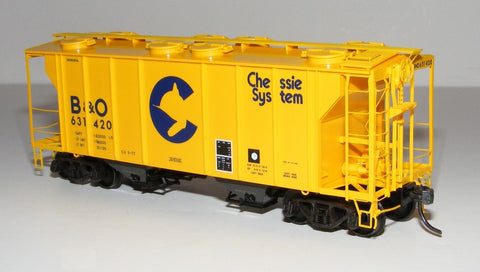 Kadee 8653 HO B&O Chessie System PS-2 2-Bay Covered Hopper Freight Car #631420