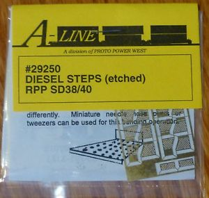 A-Line 29250 HO Brass Diesel Steps For Railpower Shells SD40, SD38