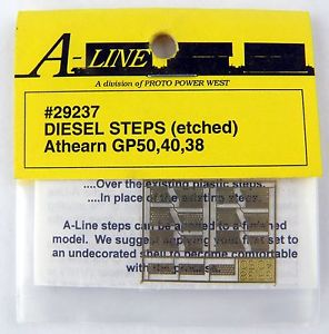 A-Line 29237 HO Brass Diesel Steps For Athearn Shells GP60, 50, 40, 38
