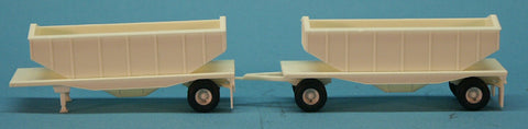 A-Line 106 Trailers Only - 24' Outside Frame Flatbed Doubles with Grain Hoppers.