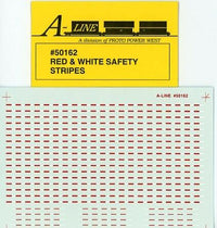 A-Line 50162 HO Red & White Safety Stripes Decals