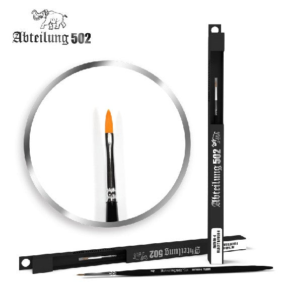 Abteilung 502 8404 Size 4 Synthetic Filbert Brush