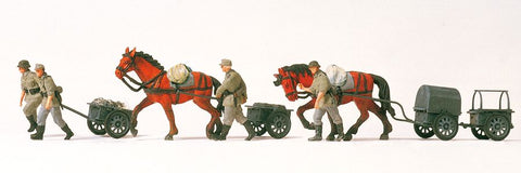 Preiser 16547 HO Military - Former German Army WWII - Unpainted Figures Horse