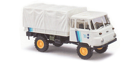 Busch 50237 HO Robur LO 2002 A Low-Side Delivery Truck with Cage, RoburWerk