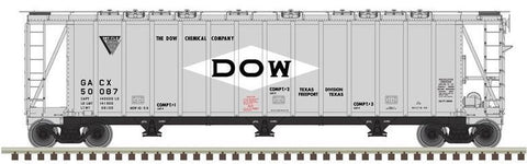Atlas 50002905 N Dow Chemical Co. General American 3500 Dry-Flo 3-Bay Covered Hopper Car #50087