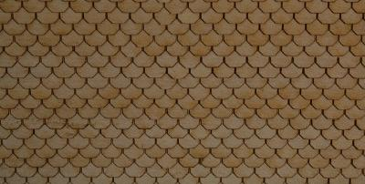 "GCLaser 111312 HO Laser-Cut Roof Shingles Scalloped - 11-1/2"" Long"