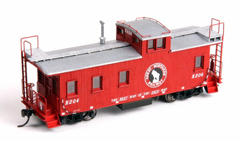 American Model Builders 880 HO GN 30' ongue and Groove Wood Caboose Kit