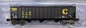 Bluford Shops 14381 N Chessie System Chesapeake & Ohio, 14-Panel 3-Bay Hopper with Coal Load