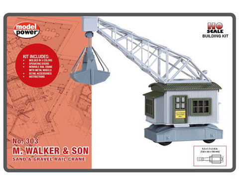 DCC Concepts 648 HO Walker & Son Sand & Gravel Rail Crane Built-Up