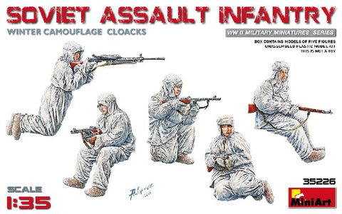 MiniArt 35226 1:35 Soviet Assault Infantry in Winter Camouflage (Set of 5)