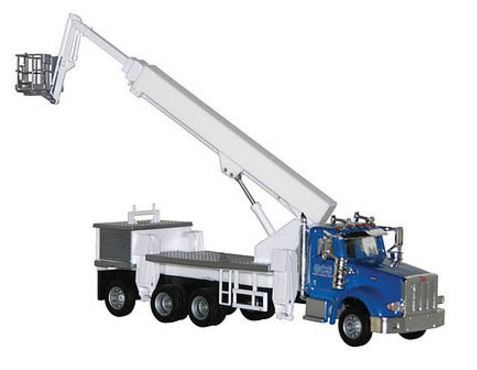Herpa 6533 1:87 HO GCS Peterbilt 367 Boom/Cherry Picker Truck- Assembled