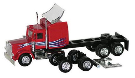 Herpa 6529 HO Peterbilt Multi-Use Chassis Tractor Only - Assembled (Red)