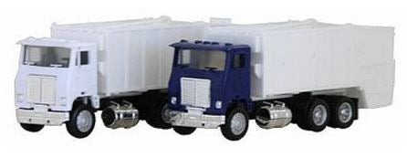 Herpa 6446 1:87 HO White Road Commander Garbage Truck - Assembled (Various Colors)