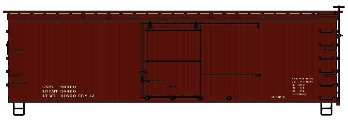 Accurail 1797 HO 36' Double Sheathed Boxcar Kit with Wood Ends, Data Only