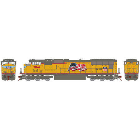 Athearn G69240 HO Union Pacific SD70M Diesel Locomotive #5164 (Flag)