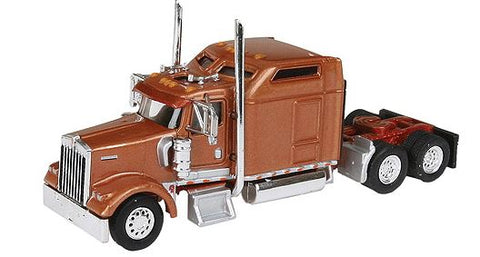 "Trucks n Stuff 5001 HO Kenworth W900L with 86"" Standup Sleeper - Carmel Copper"