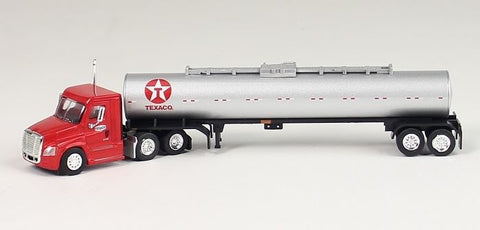 Trucks N' Stuff TX1624 HO Texaco Freightliner Cascadia Day Cab with Chemical Tanker