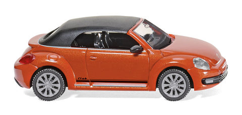 Wiking 002848 HO Orange Volkswagen Beetle Cabrio