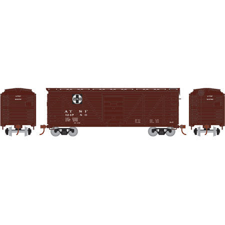 Athearn RND85713 HO Atchison, Topeka and Santa Fe 40' Single Sheathed Box #124780