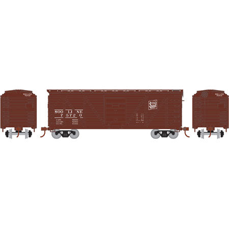 Athearn RND85721 HO SOO 40' Single Sheathed Box #75720