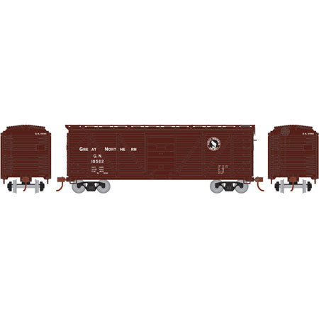 Athearn RND85725 HO Great Northern 40' Single Sheathed Box #10562