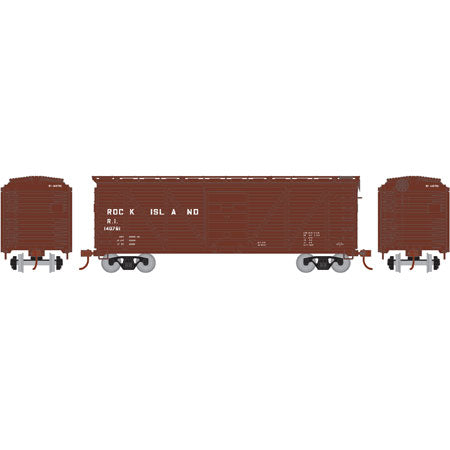 Athearn RND85729 HO Rock Island 40' Single Sheathed Box #140761