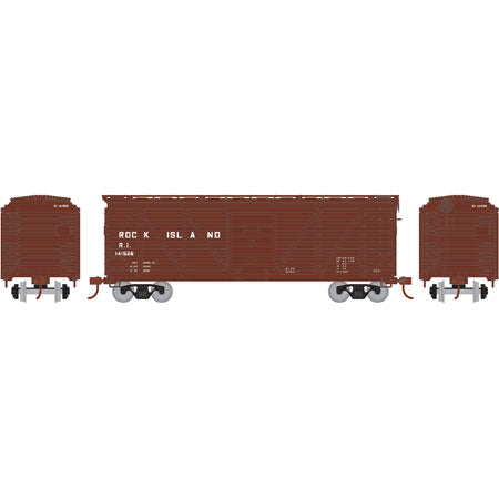 Athearn RND85730 HO Rock Island 40' Single Sheathed Box #141526