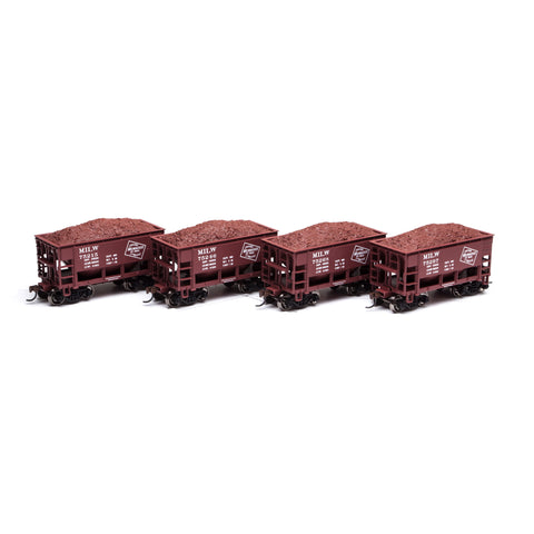 Athearn RND87099 HO Milwaukee 24' Ribbed Ore Car w/ Load #1 (4)