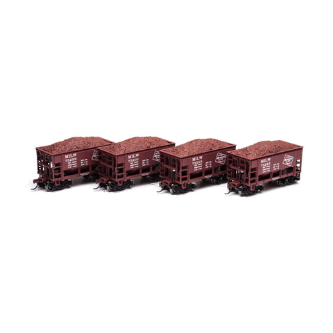 Athearn RND87100 HO Milwaukee 24' Ribbed Ore Car w/ Load #2 (4)