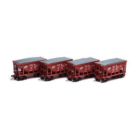 Athearn RND87102 HO Chicago and North Western 24' Ribbed Ore Car w/ Load #1 (4)