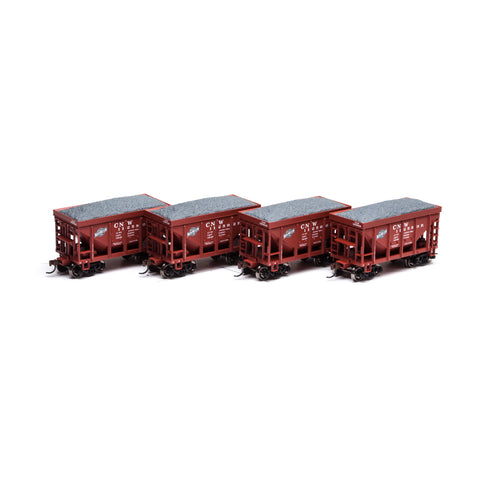 Athearn RND87103 HO Chicago and North Western 24' Ribbed Ore Car w/Load #2 (4)