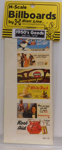 Blair Line 1419 N 1950's Goods Billboard Signs #1