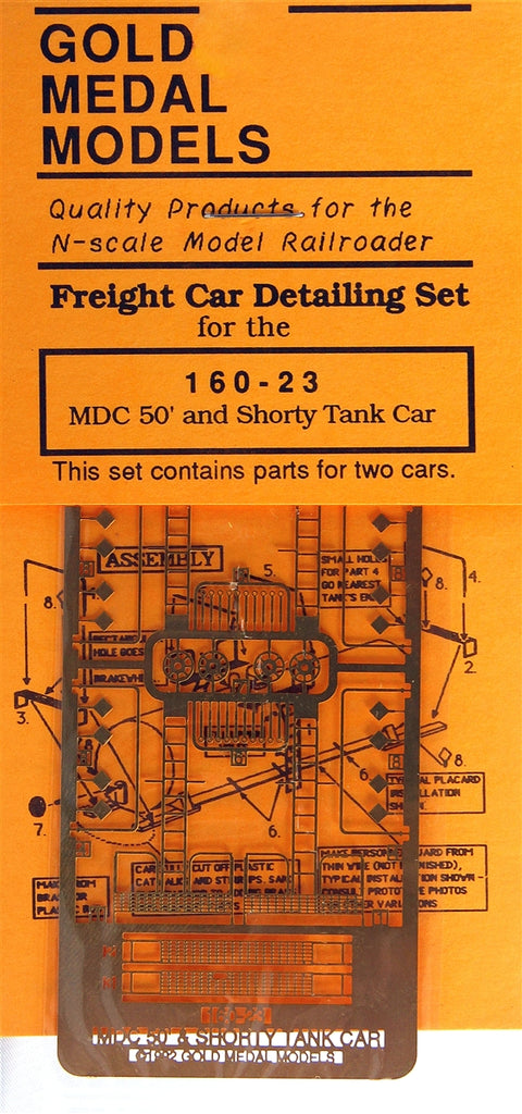 Gold Medal Models 16023 N Detailing Set For Model Die Casting 50' & Shorty Tank Cars