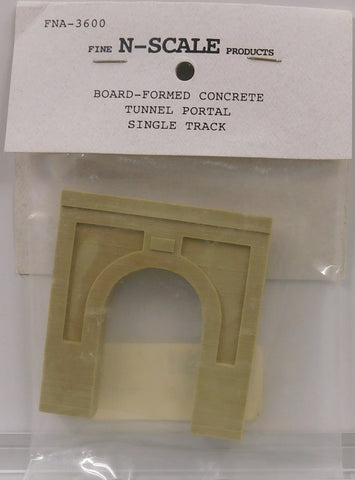 Fine N Scale Products FNA-3600 N Board-Formed Single Track  Concrete Tunnel Portal