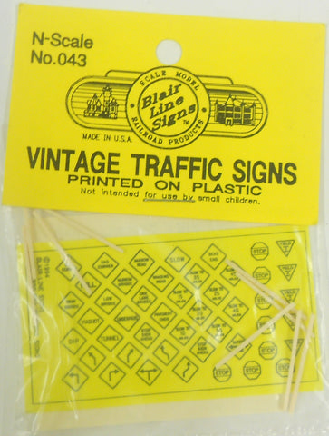 Blair Line 043 N Vintage Traffic Signs
