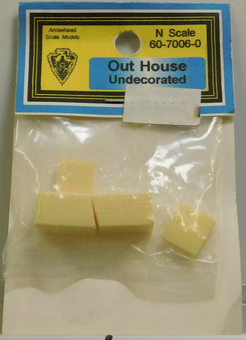 Arrowhead Scale Models 60-7006-0 N Out House Undecorated
