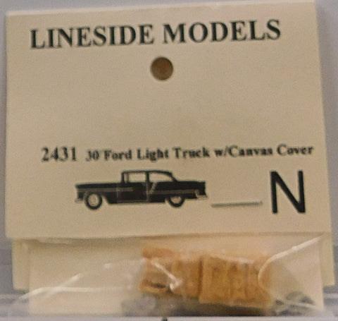 Lineside Models 2431 N 30 Ford Light Truck w/ Canvas Cover