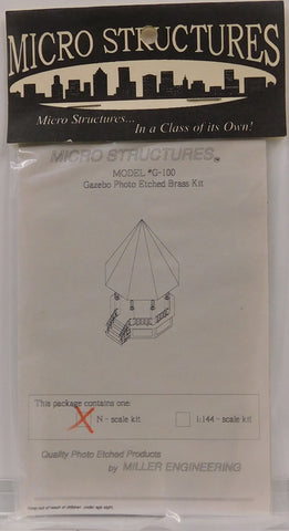 Micro Structures G-100 N Gazebo Photo Etched Brass Kit